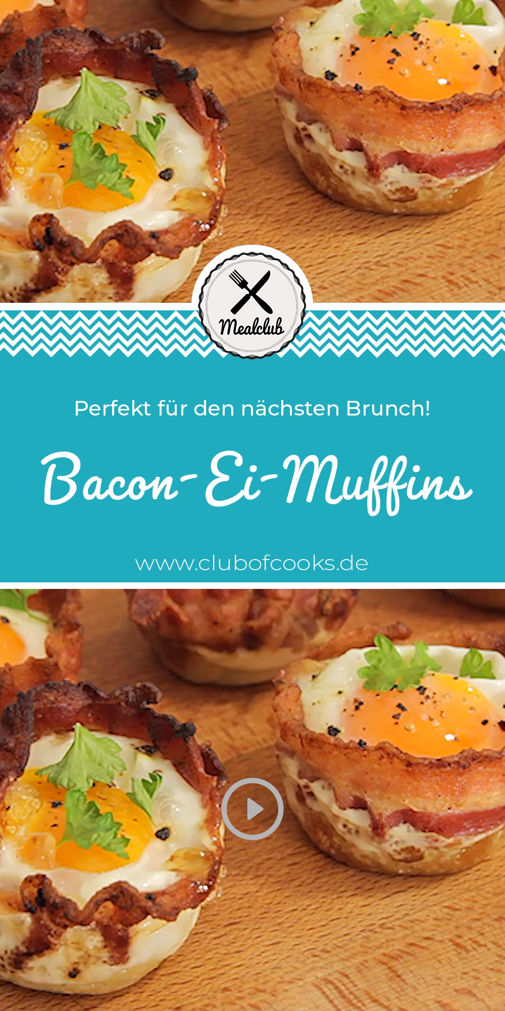 Bacon-Ei-Muffins | MealClub #fingerfoodrezepteschnelleinfach