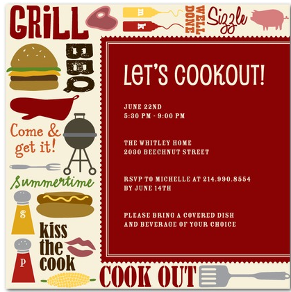 love this cook out invite from tinyprints invitations pinterest