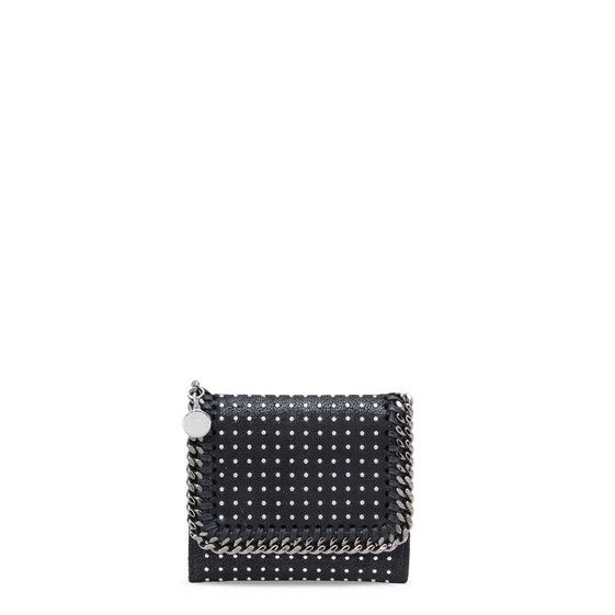 Black Small Falabella Shaggy Deer Wallet - Stella Mccartney Official Online Store - FW 2016 - 2017
