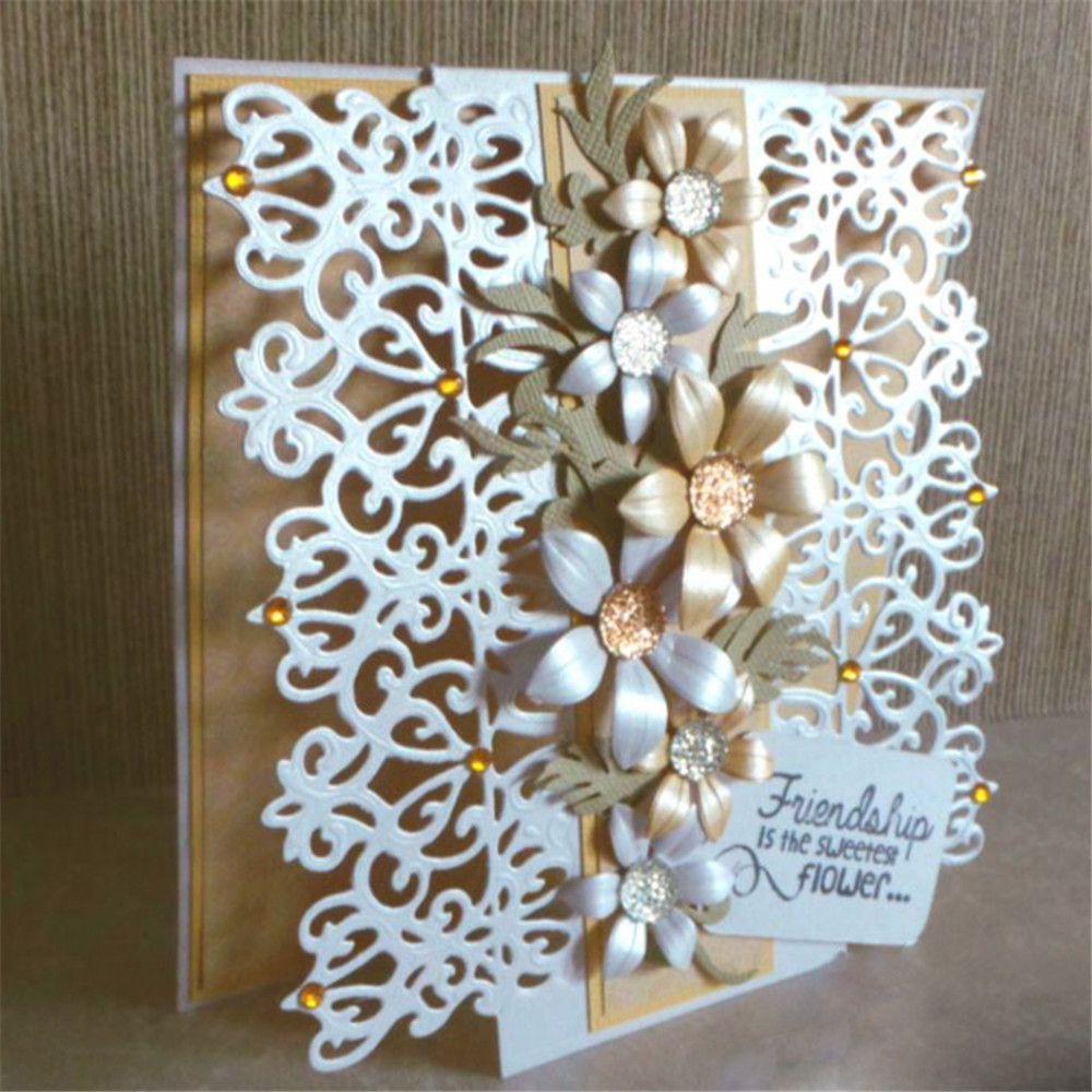 DIY Hollow Flower Cutting Dies Stencil Scrapbooking Paper Card Embossing Craft