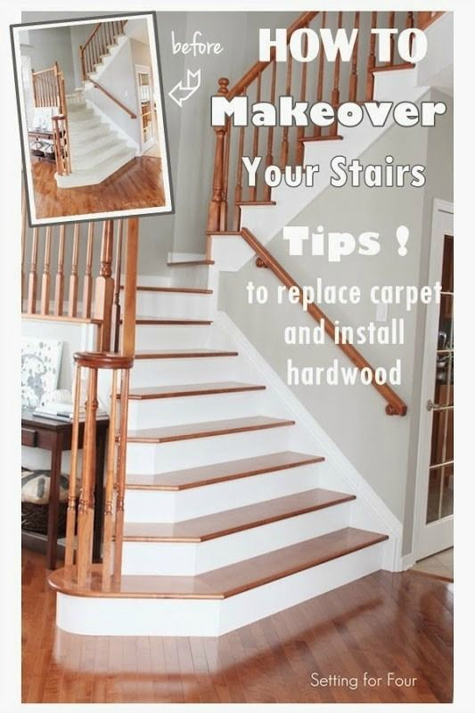 How To Makeover Your Stairs  Replace Carpet, Install Hardwood And Tips On  Hiring A Contractor.