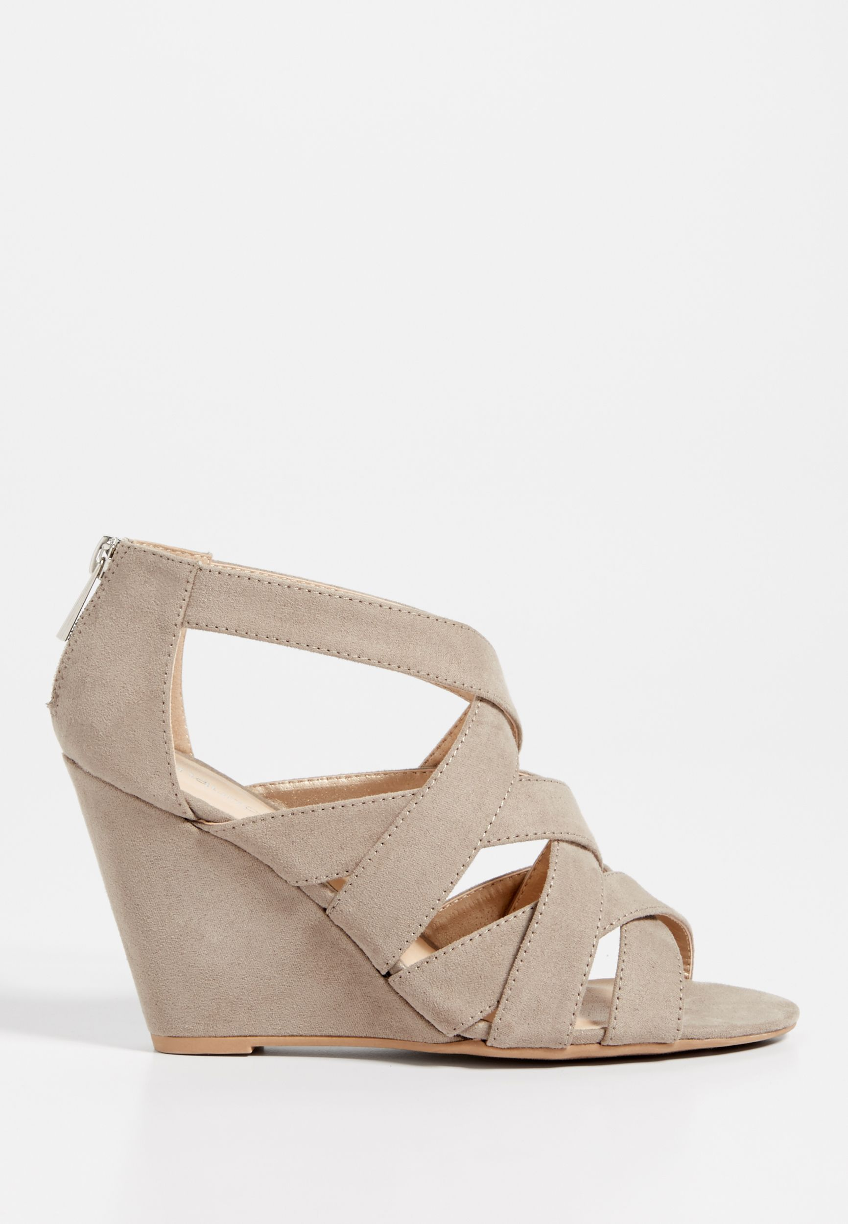4becd10048a Janice strappy wedge (original price, $39.00) available at #Maurices ...