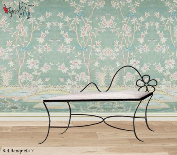 Banquetas forja cositas pinterest - Muebles originales madrid ...