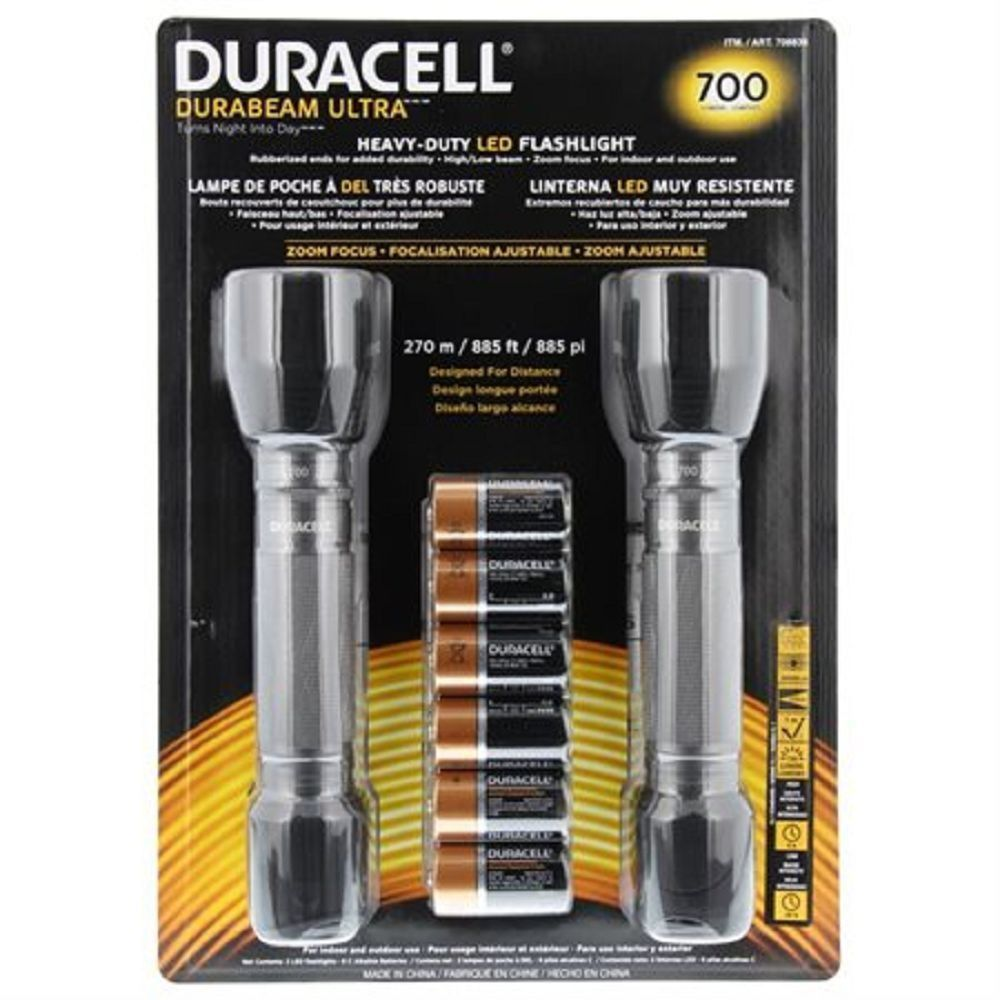 Duracell Durabeam Ultra 700 Lumens Flashlight 2 Pack Led Flashlight
