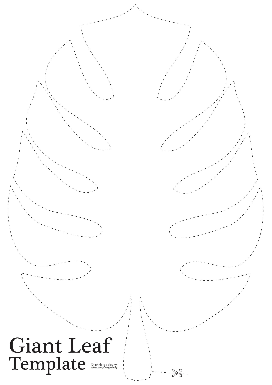Jungle Leaf Template | scrapbook | Pinterest | Flores de papel ...