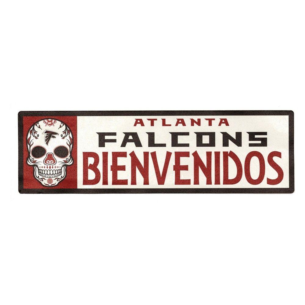 Nfl Atlanta Falcons Outdoor Bienvenidos Step Decal Outdoor Steps Brick And Wood Atlanta Falcons