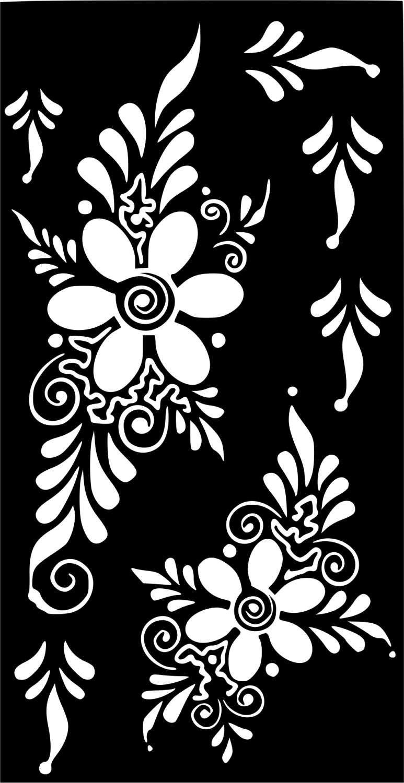 Variety Henna Temporary Tattoo Glitter Stencil Sticker