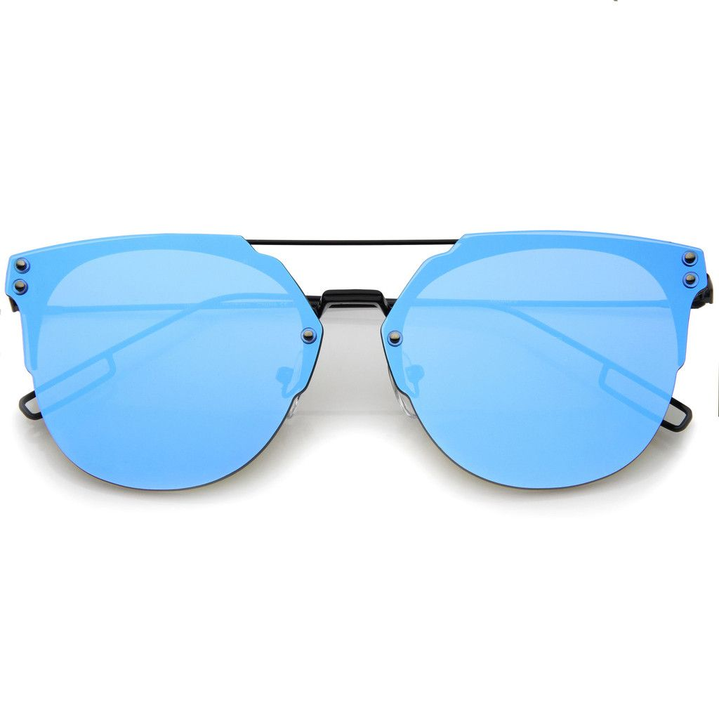 019a5e399d Minimal Modern Rimless Flat Lens Color Mirror Lens Sunglasses from zeroUV.  Shop more products from zeroUV on Wanelo.