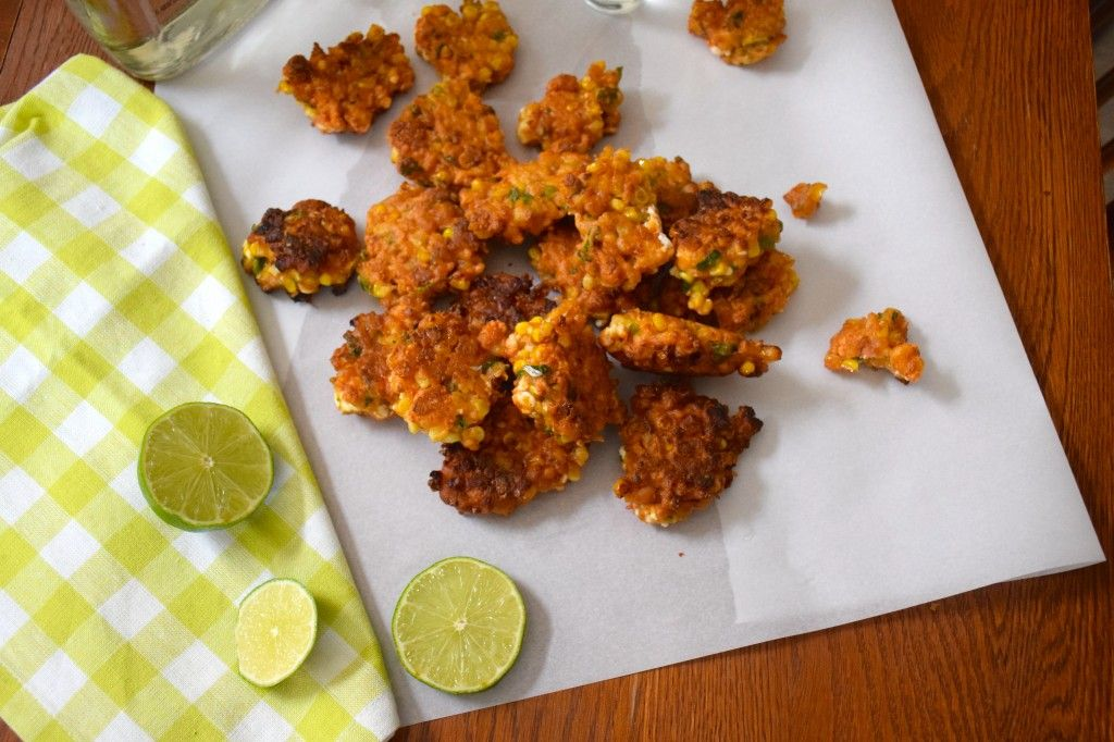 Mexican Street Corn Fritters- Sensibly Sharp