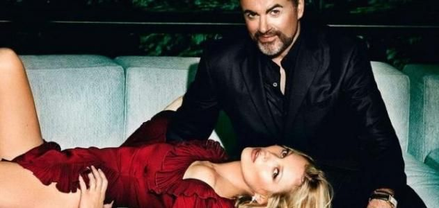 george michael & kate moss in vogue