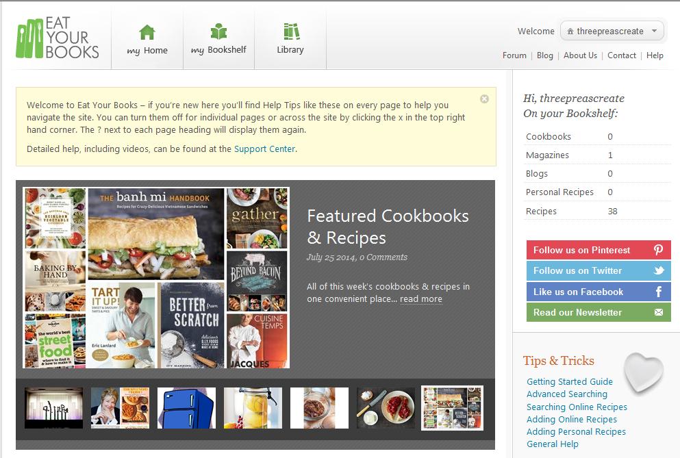 Cookbook Organizer @ Three Peas Create