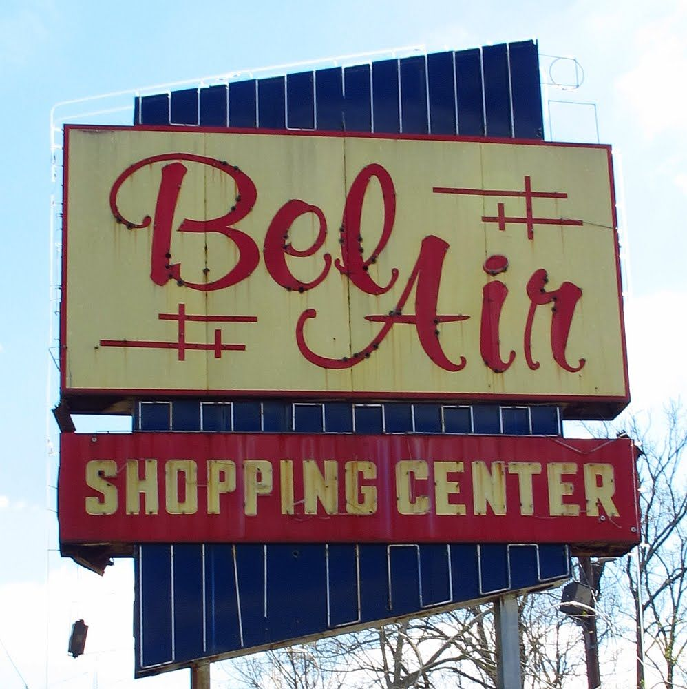 Bel Air Shopping Center sign