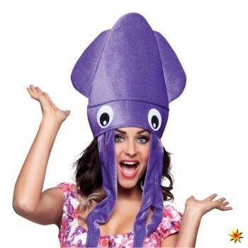 07976eba07 Tintenfisch-Hut, Mütze lila | Clown | Kostüm tintenfisch, Party ...