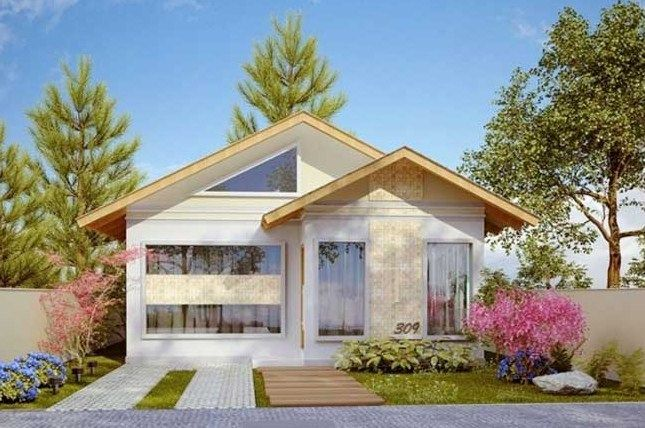 fachadas de casas de metros cuadrados