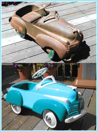 How To Restore An Antique Pedal Car With Images Pedal Cars