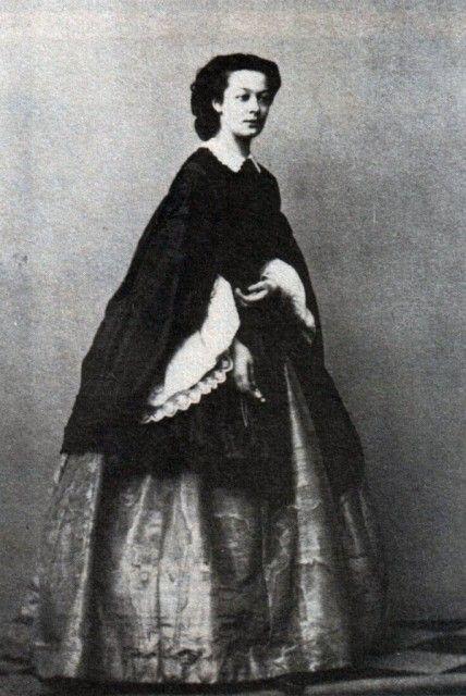 Alexander II had an affair with Princess Alexandra Sergeevna Albedinskaya, twenty beautiful and clever girl, a distant relative of Katya Dolgorukova, his future mistress and later morganatic wife _BM