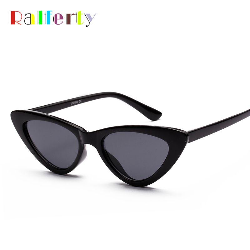 e30d50790b Ralferty Cat Eye Sunglasses Women 2018 Vintage Sunglases UV400 Black Shades  Retro Cateye lunette de soleil femme oculos W18502