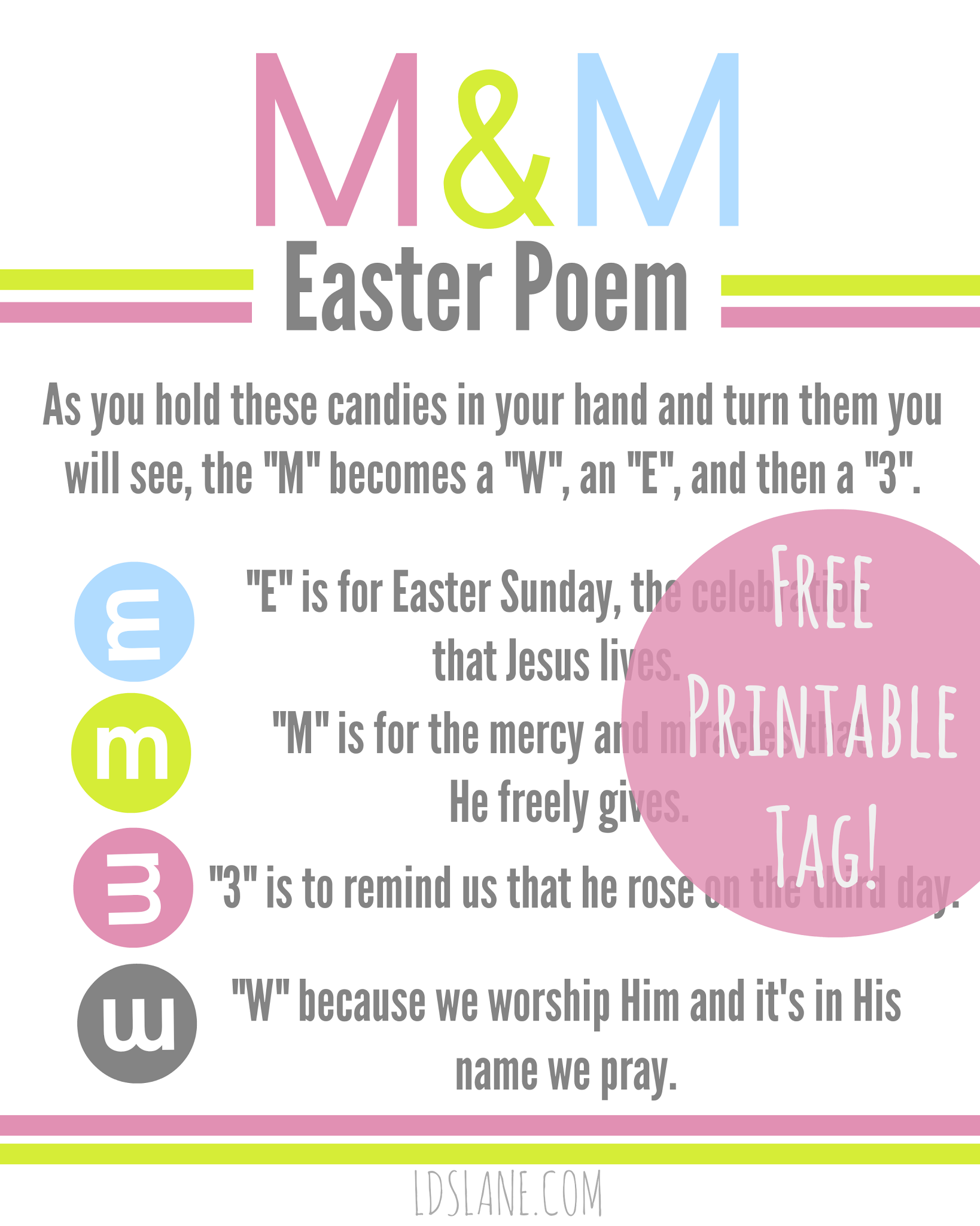 Free printable easter m m poem tags free printable poem and easter free printable mm poem negle Images