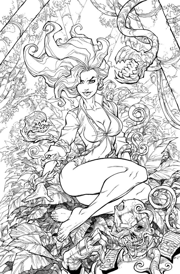 Princess ivy coloring page - Poison Ivy Colouring Pages Google Zoeken