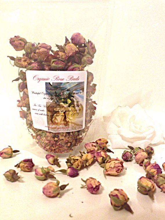 Organic Rose Buds Large 2 Ounce Bag by AmykeDesign on Etsy, $15.00