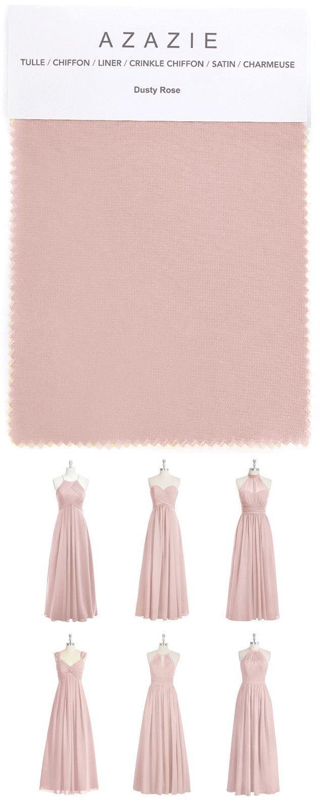 Azazie dusty rose swatch in 6 fabrics pink dusty rose chiffon azazie dusty rose swatch in 6 fabrics pink dusty rose chiffon ombrellifo Choice Image
