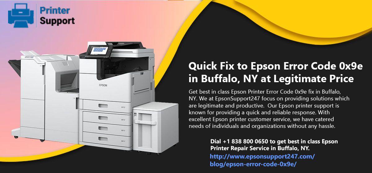 Quick Fix to Epson Error Code 0x9e in Buffalo, NY at