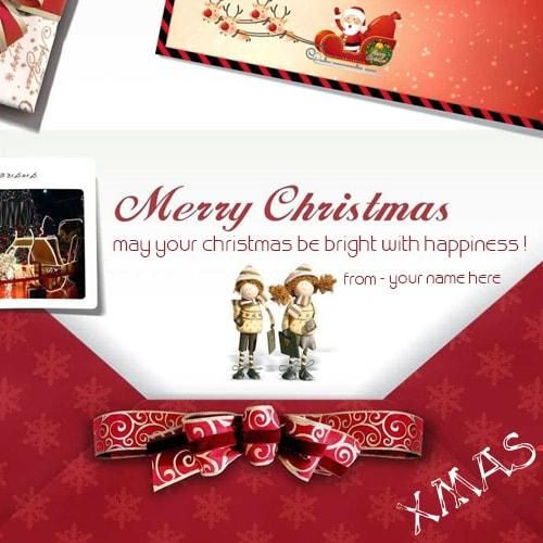 Personalized Xmas Ecards Write Name On Merry Christmas Wishes Greeting Card Merry Christmas Merry Christmas Wishes Xmas Greeting Cards Christmas Card Online