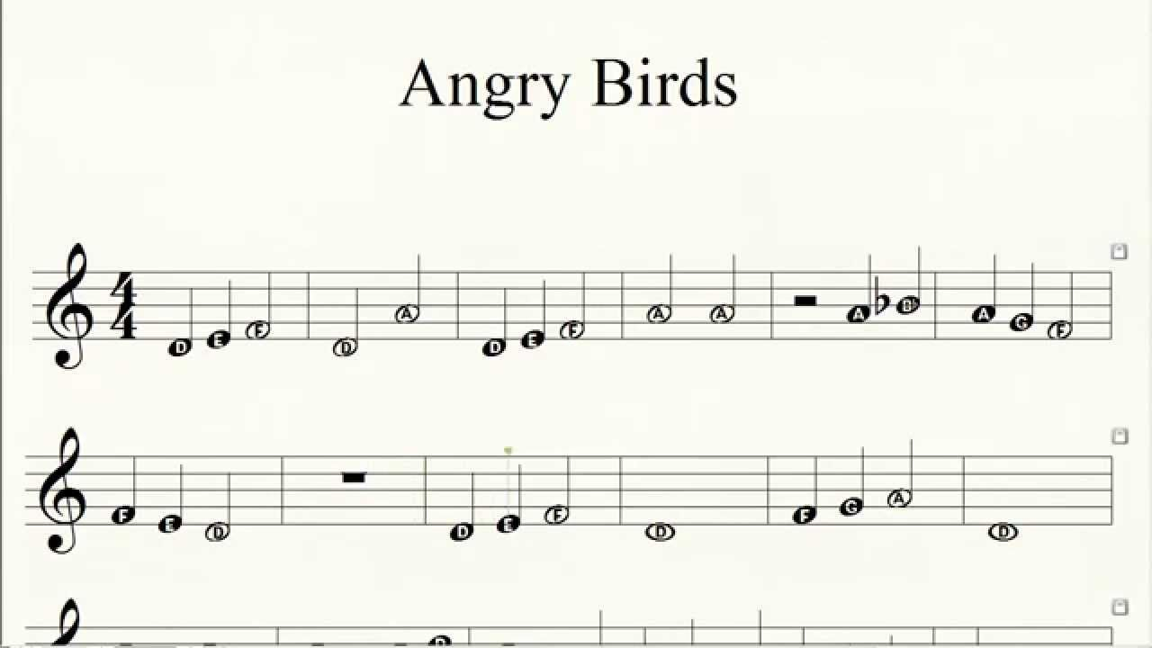 Piano Angry Birds Theme How to Play Easy Piano Letter Notes