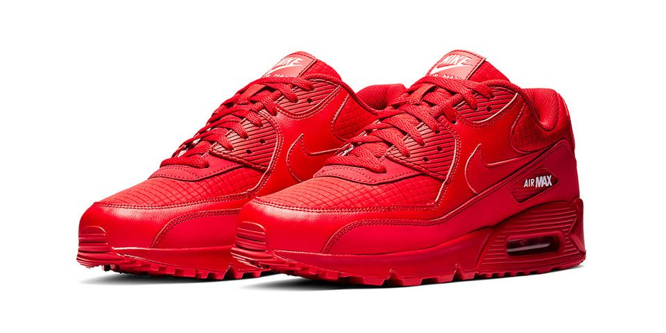 Nike's Air Max 90 Gets an All-Red Makeover | Nike air max ...