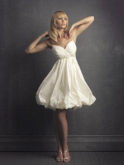spaghetti straps short wedding dresses tea length