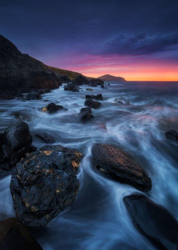 Royal Dawn Kings Beach Water Swirl Landscape Photography