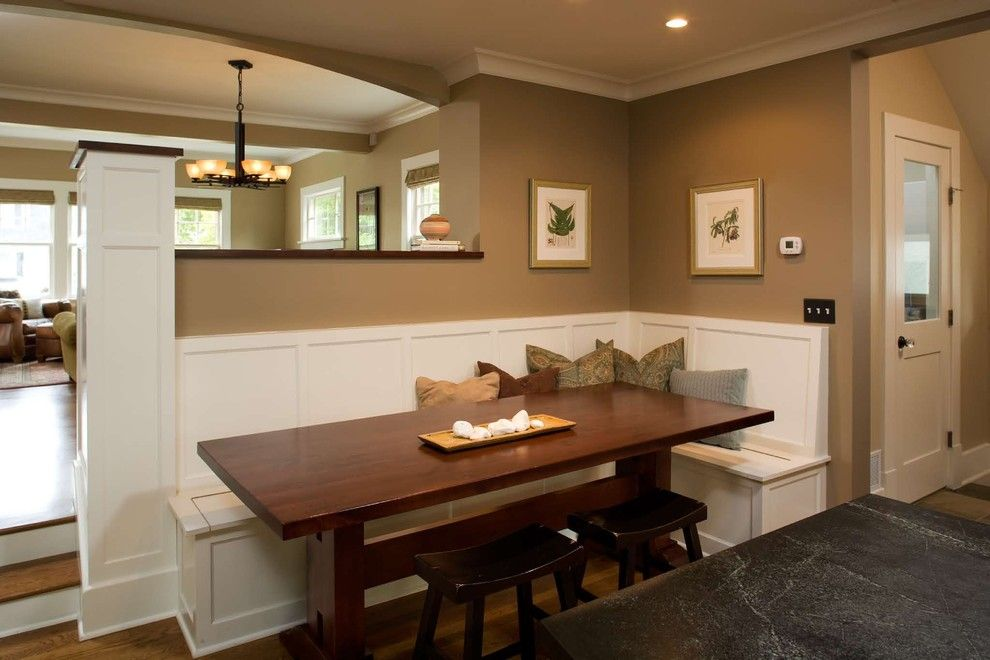 Built In Dining Room Bench Photo 6 Building A Kitchen