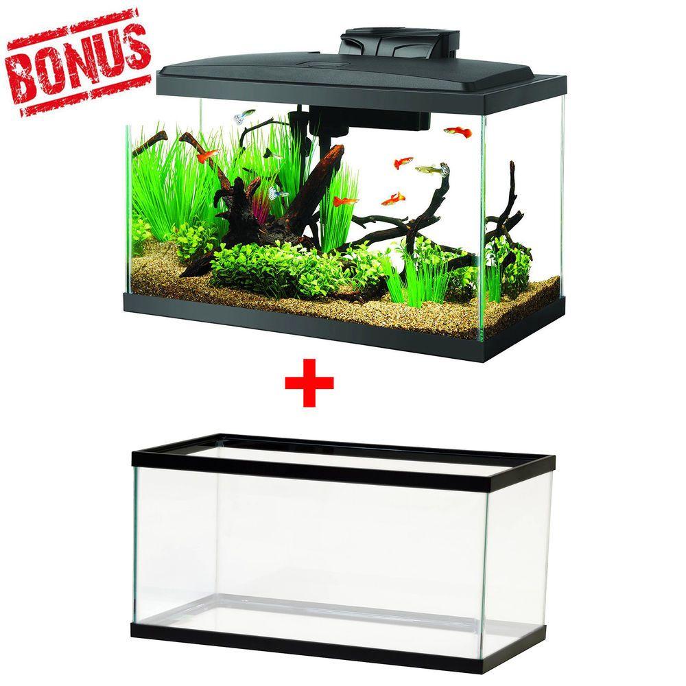Kit 10 Gallon Fish Tank Aquarium Led Light Hood Starter Water Filter Terrarium Led Aquarium Lighting 10 Gallon Fish Tank Aquarium