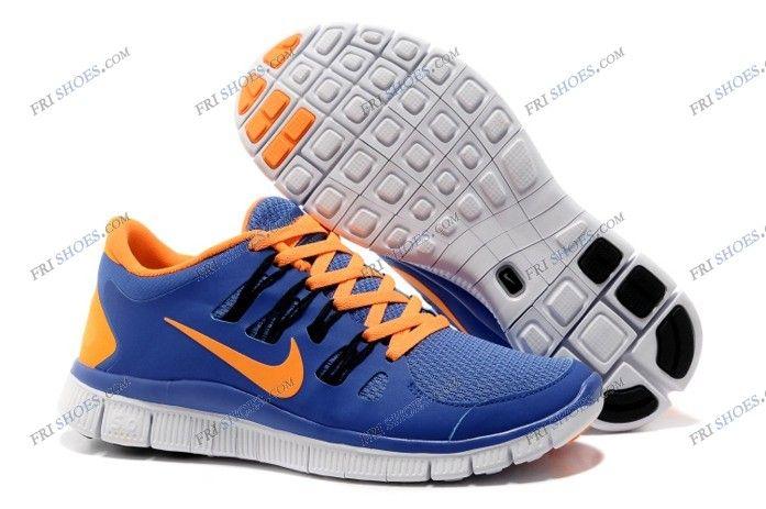 cheaper d6f77 49529 Nike Free Run 5.0 V2 Mens athletic running shoes Blue Orange ...