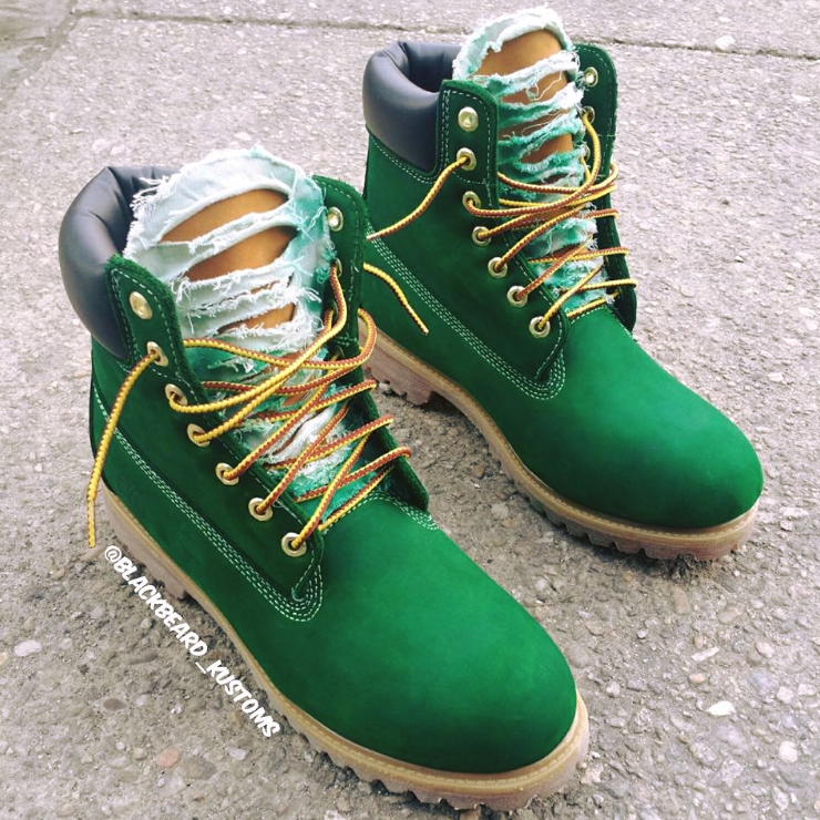 Denim Timbs in Green. Timbaland BootsCustom ShoesProduct ...