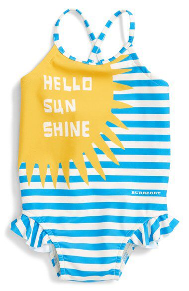 cd1589a779 Burberry Burberry 'Lundy' One-Piece Swimsuit (Baby Girls) available at # Nordstrom