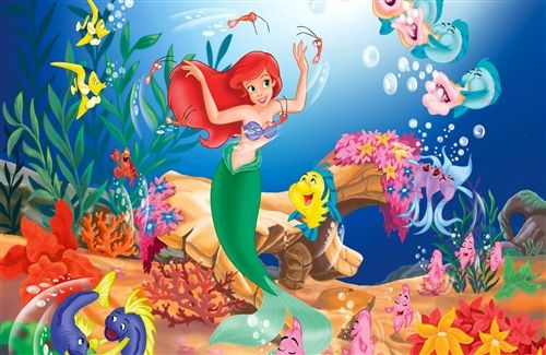 Little Mermaid Cake Topper Edible Frosting Image 1/4 Sheet ABPID01138
