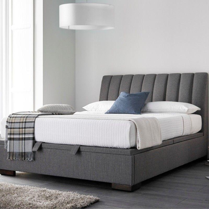 Prime Lanchester Elephant Grey Fabric Ottoman Storage Bed Frame Short Links Chair Design For Home Short Linksinfo