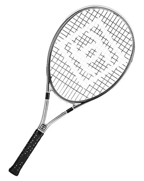 Chanel tennis racket luxury black