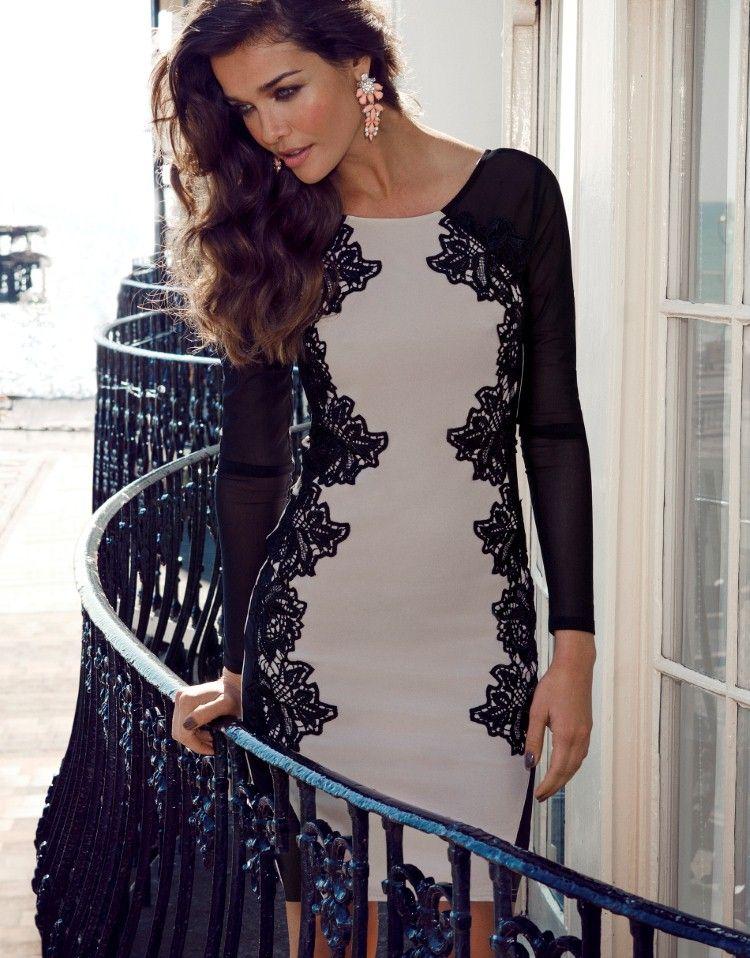 Lipsy Long Sleeve Lace Silhouette Bodycon Dress  9e88dcbe5585