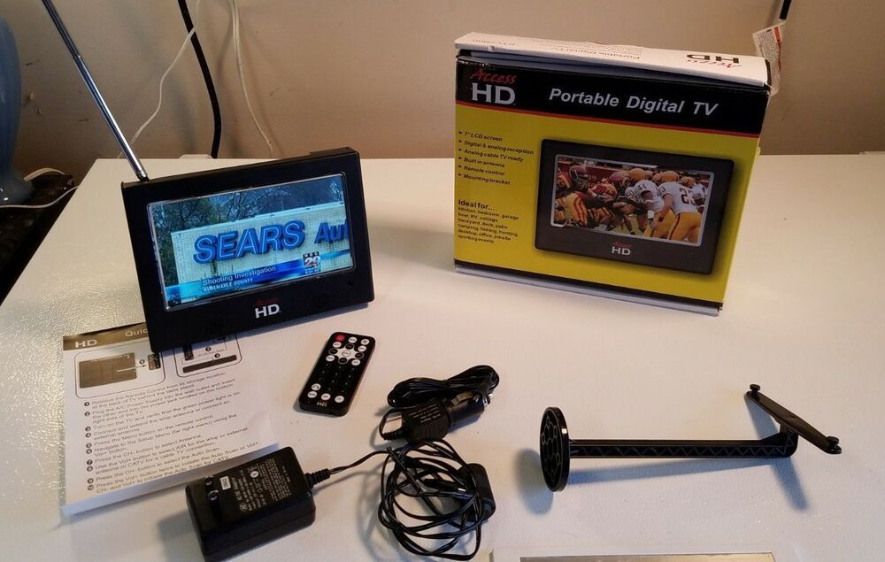 "Access HD PTV 7000 7"" LCD Digital Television TV w/Remote"
