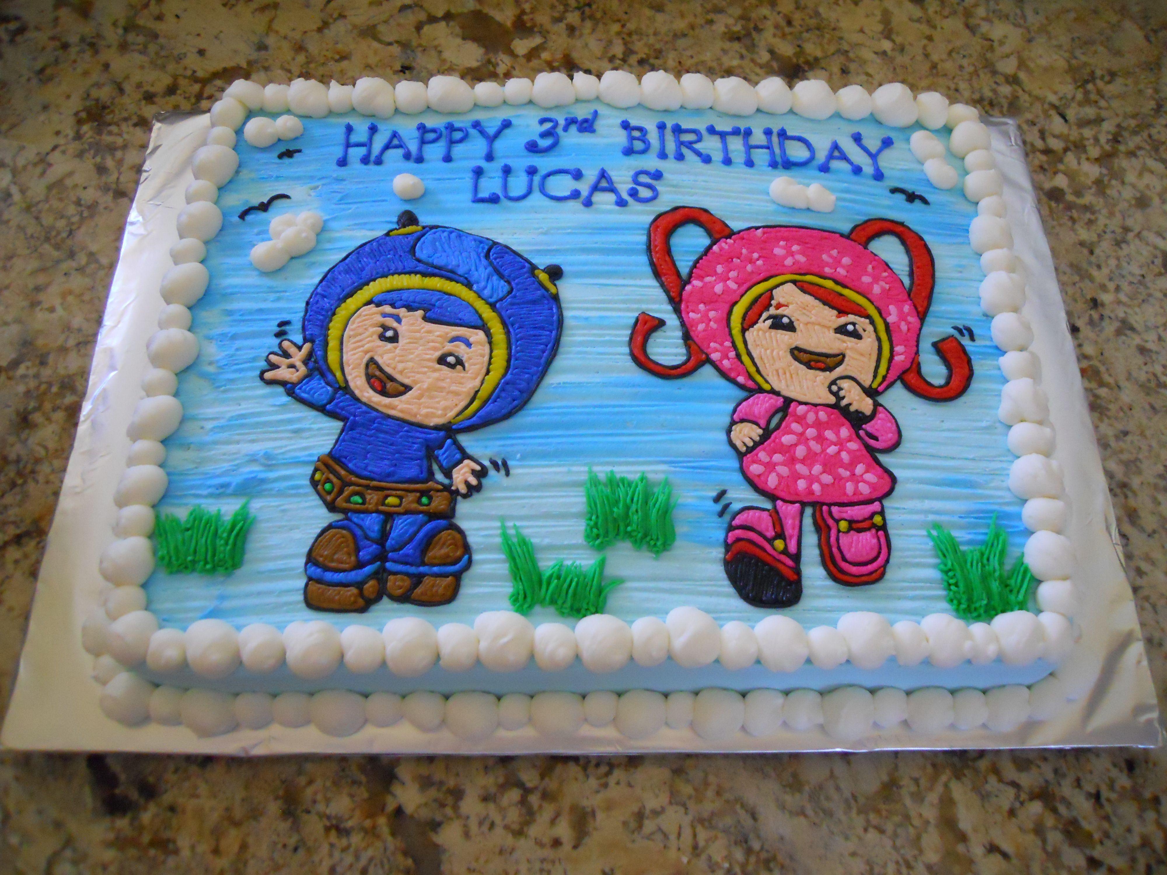 Pleasant Team Umizoomi Birthday Cake With Images Team Umizoomi Personalised Birthday Cards Arneslily Jamesorg