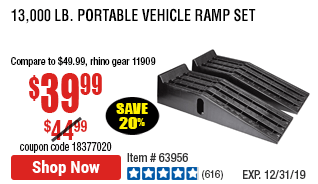 13 000 Lb Portable Vehicle Ramp Set Car Ramps Ramp Portable