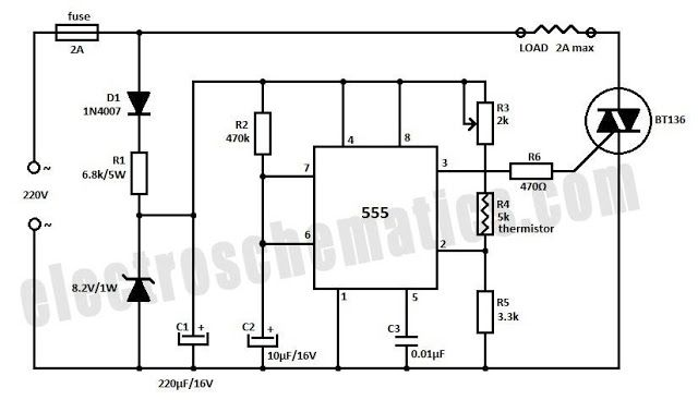 thermostat control wiring schematic temperature controller circuit schematic in 2020 circuit diagram  temperature controller circuit
