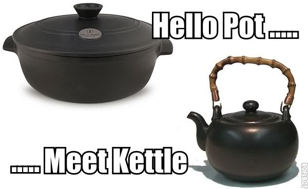 pot calling the kettle black meme