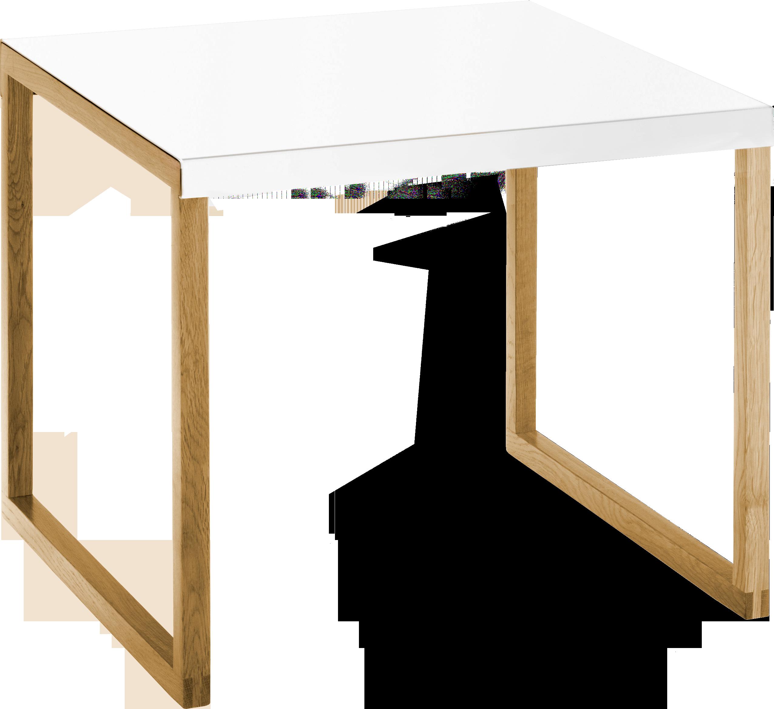 Kilo mesa auxiliar de metal y roble macizo itat