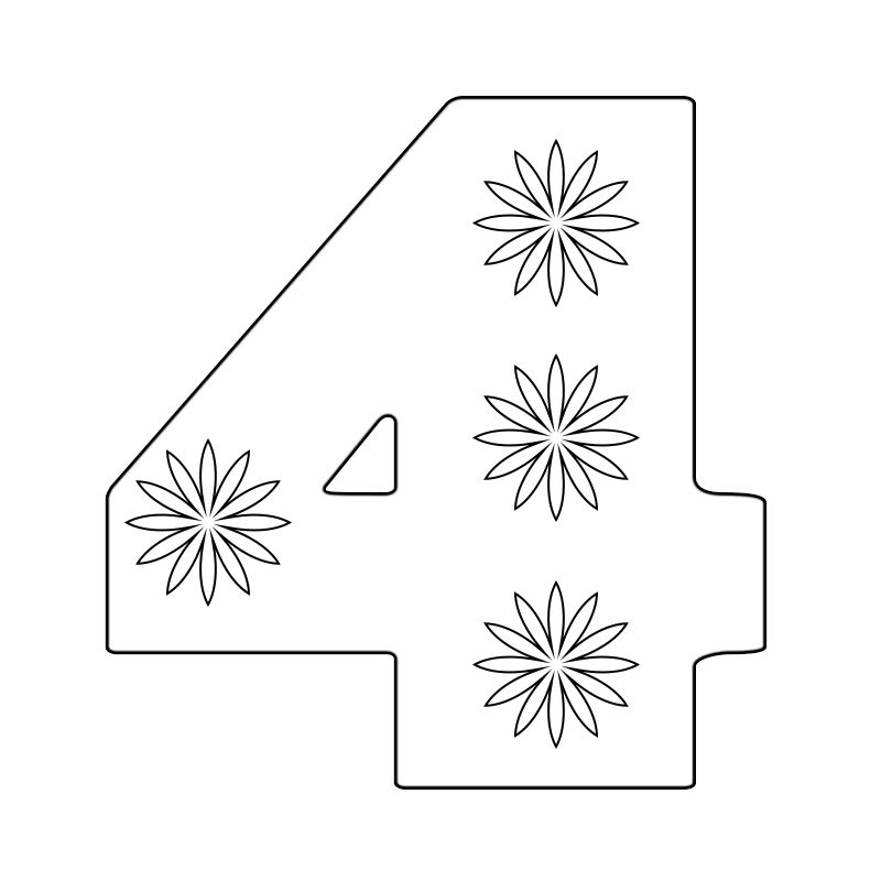 Number 4 Printable Coloring Pages Printable Coloring Pages Free Coloring Pages Coloring Pages