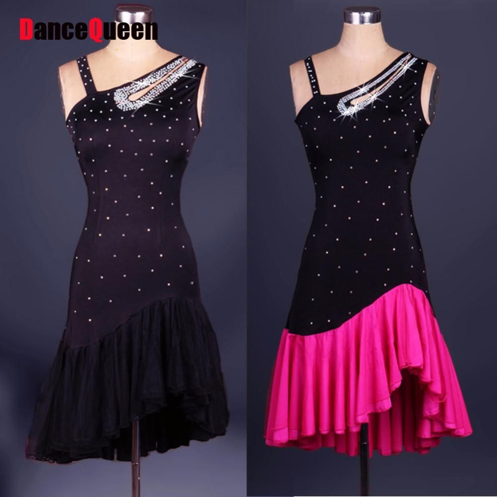 fb2a83dbb Latin Dance Dress Women/Girls Diamond Roupa Infantil Feminina Black Ballroom /Cha Cha/Rumba/Samba/Latin Dresses For Dancing - On Trends Avenue