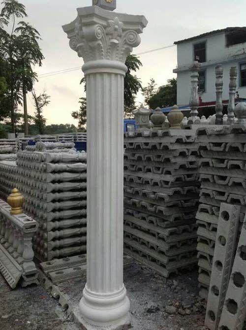 Roman Decorative Precast Concrete Pillars Column Molds For Sale