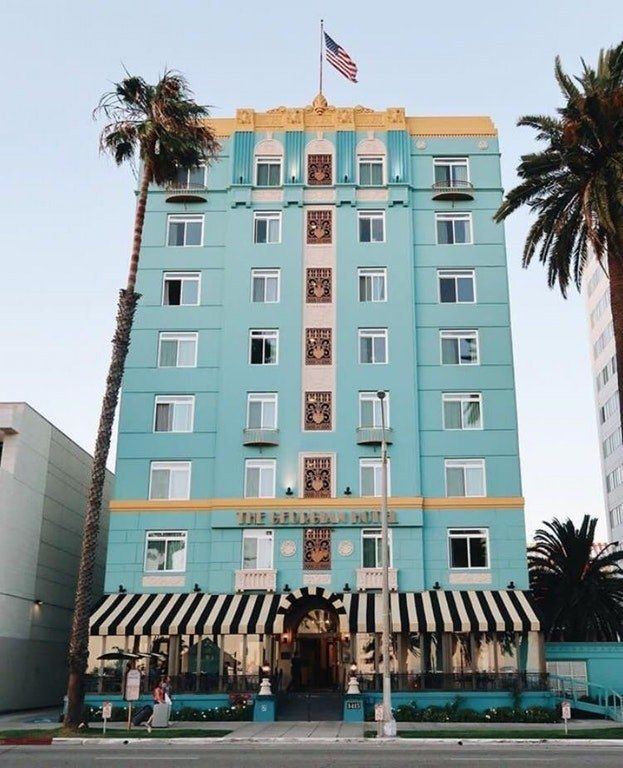 Perfect Colour Scheme Georgian Hotel Santa Monica The Accidental Wes Anderson